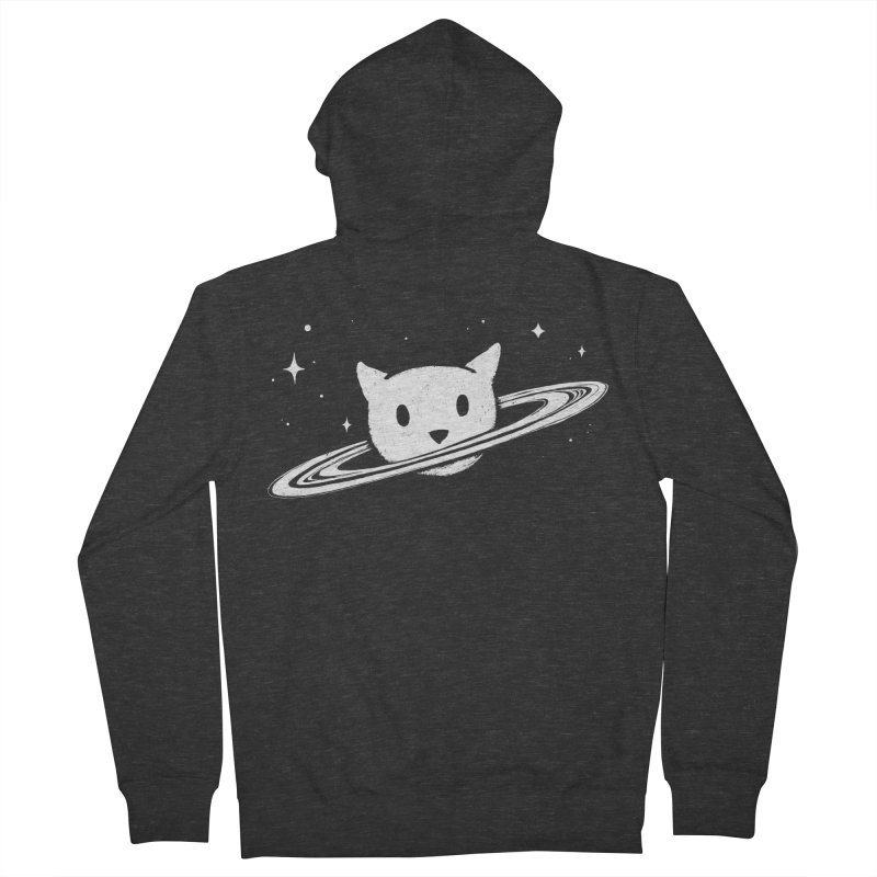 Saturn the Cat Men's French Terry Zip-Up Hoody by Fox Shiver's Artist Shop