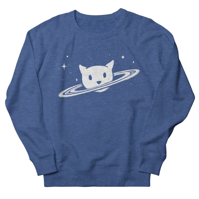 Saturn the Cat Men's French Terry Sweatshirt by Fox Shiver's Artist Shop
