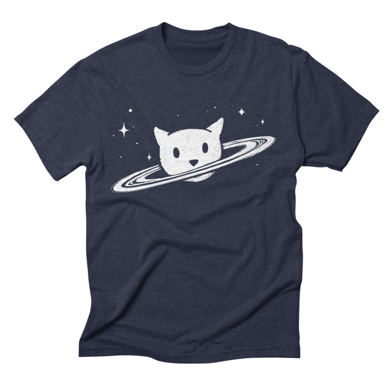 Saturn the Cat Men's Triblend T-Shirt by Fox Shiver's Artist Shop