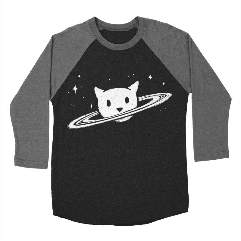 Saturn the Cat Men's Baseball Triblend Longsleeve T-Shirt by Fox Shiver's Artist Shop