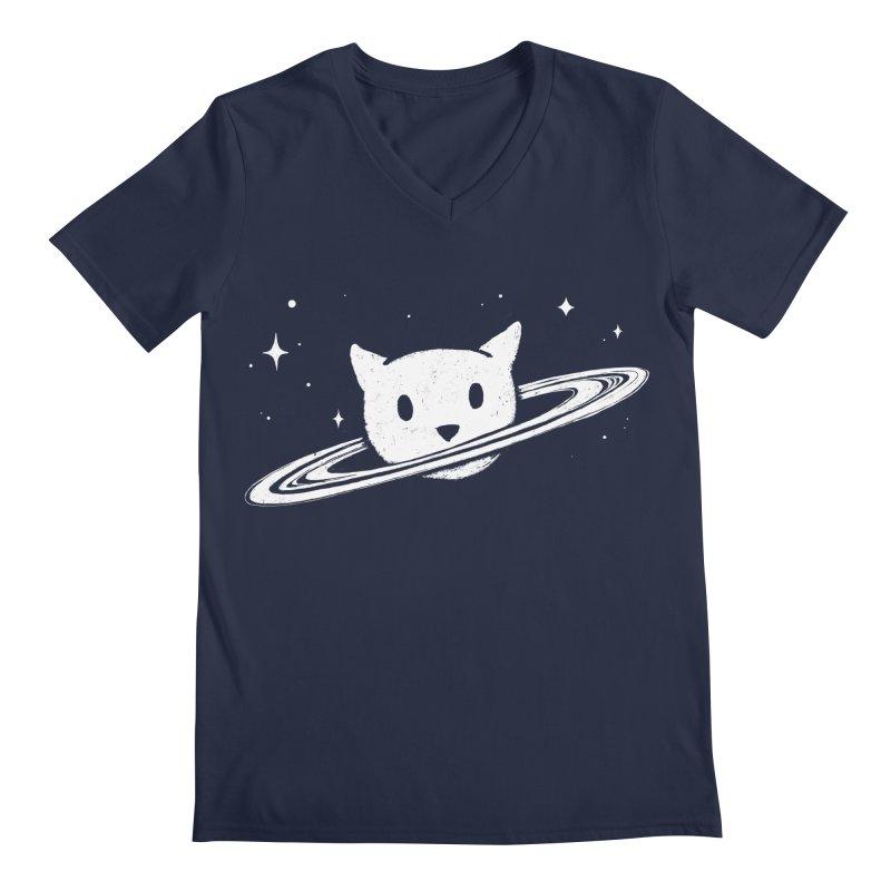Saturn the Cat Men's Regular V-Neck by Fox Shiver's Artist Shop