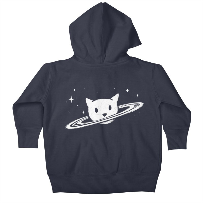Saturn the Cat Kids Baby Zip-Up Hoody by Fox Shiver's Artist Shop