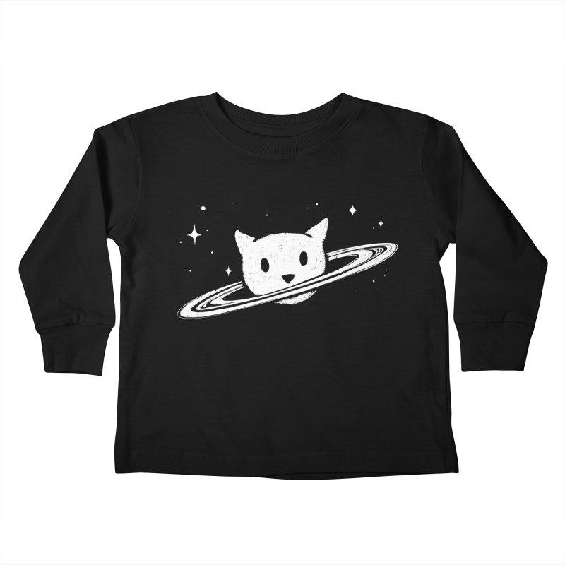 Saturn the Cat Kids Toddler Longsleeve T-Shirt by Fox Shiver's Artist Shop