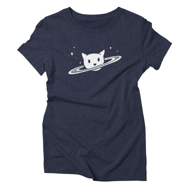 Saturn the Cat Women's Triblend T-Shirt by Fox Shiver's Artist Shop