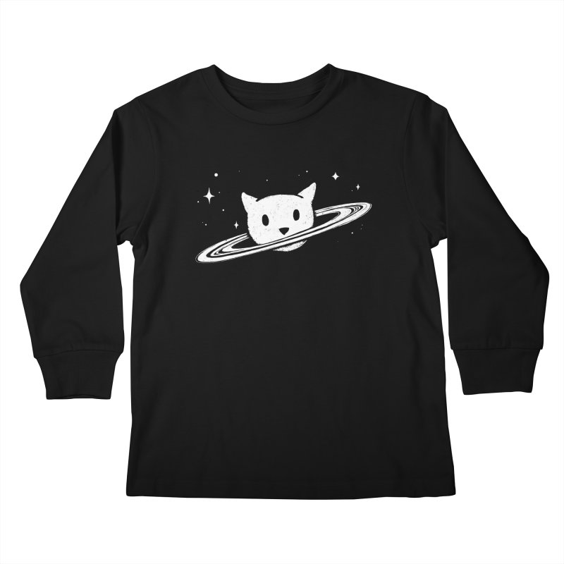 Saturn the Cat Kids Longsleeve T-Shirt by Fox Shiver's Artist Shop