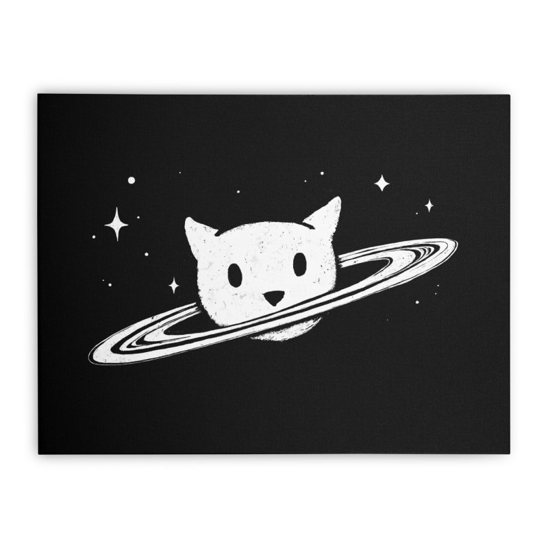 Saturn the Cat Home Stretched Canvas by Fox Shiver's Artist Shop