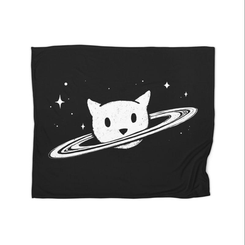 Saturn the Cat Home Fleece Blanket Blanket by Fox Shiver's Artist Shop