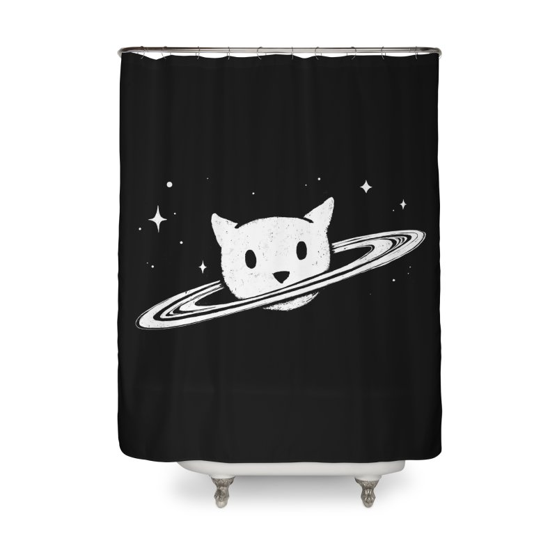 Saturn the Cat Home Shower Curtain by Fox Shiver's Artist Shop