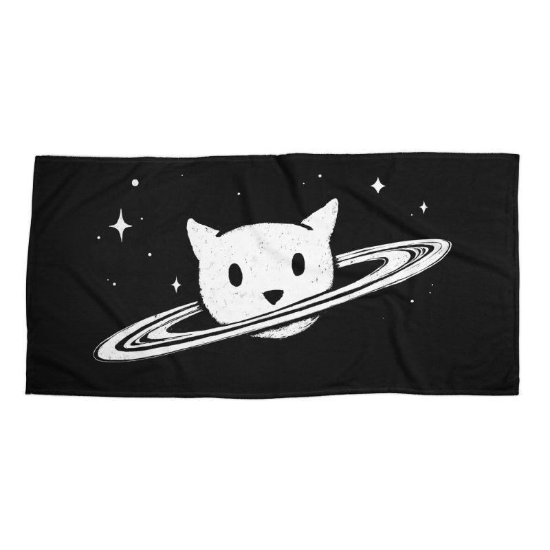 Saturn the Cat Accessories Beach Towel by Fox Shiver's Artist Shop