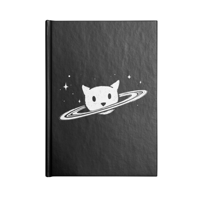 Saturn the Cat Accessories Blank Journal Notebook by Fox Shiver's Artist Shop