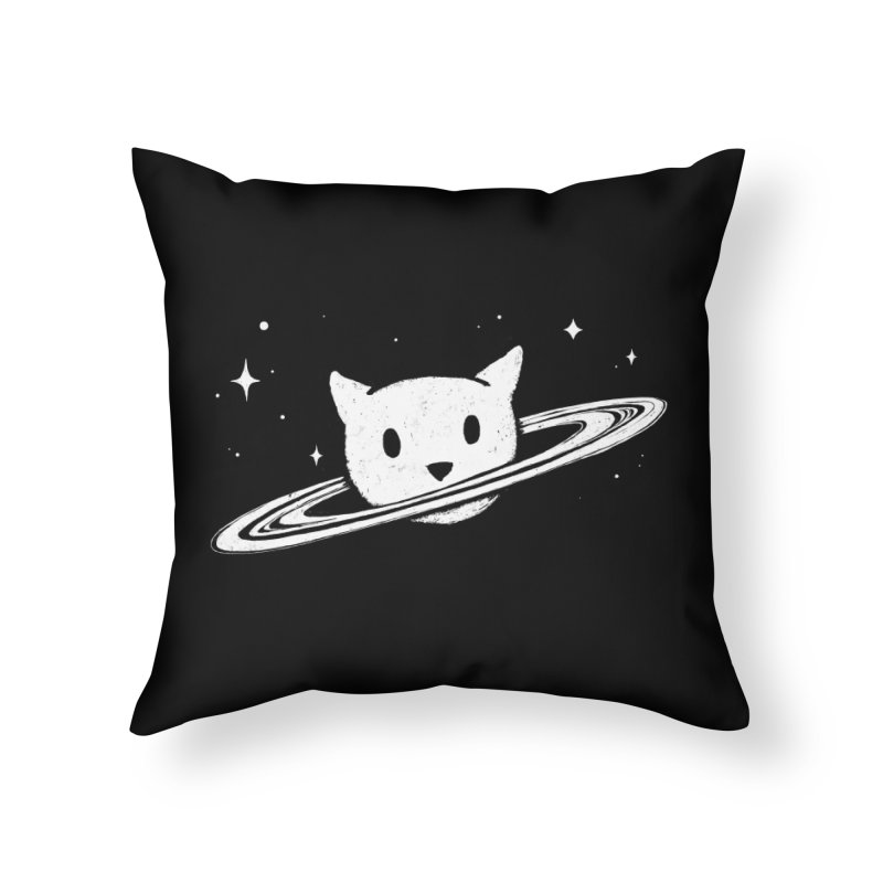 Saturn the Cat Home Throw Pillow by Fox Shiver's Artist Shop