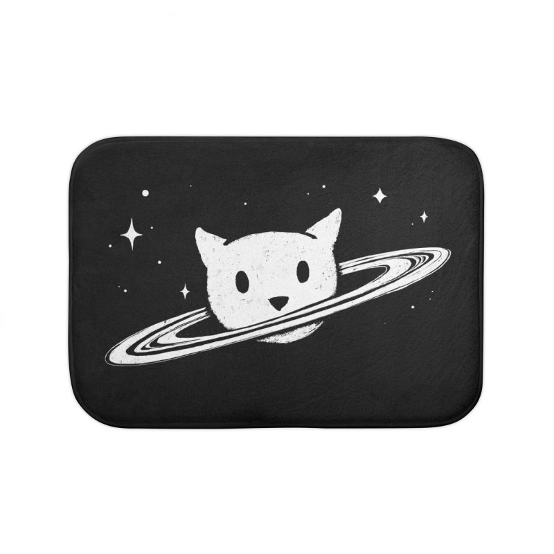 Saturn the Cat Home Bath Mat by Fox Shiver's Artist Shop
