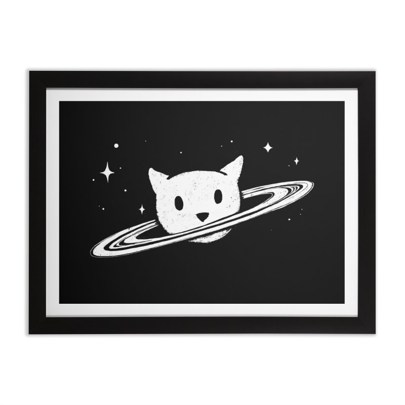 Saturn the Cat Home Framed Fine Art Print by Fox Shiver's Artist Shop