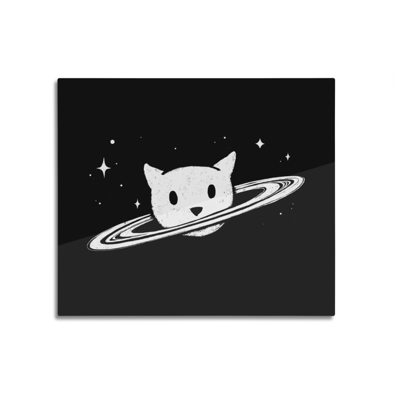 Saturn the Cat Home Mounted Aluminum Print by Fox Shiver's Artist Shop