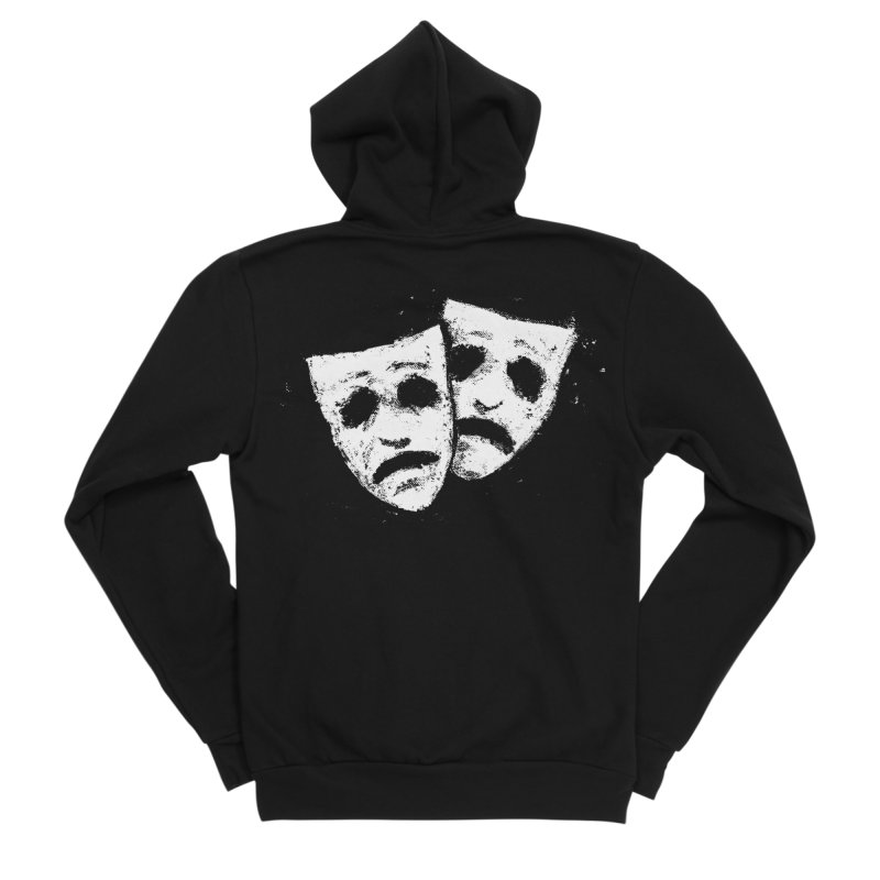 Nothing to Laugh About Men's Sponge Fleece Zip-Up Hoody by Fox Shiver's Artist Shop