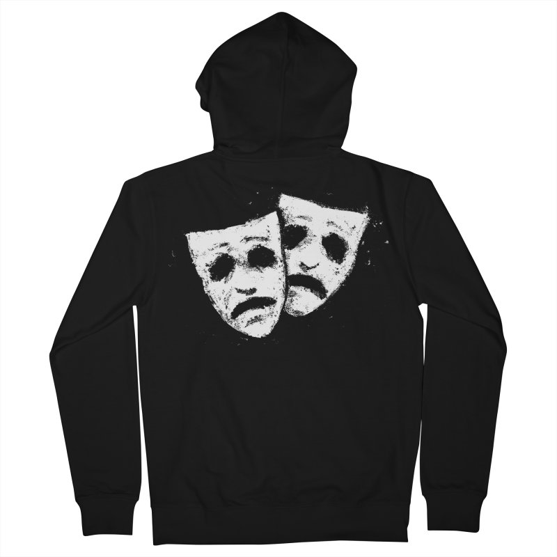 Nothing to Laugh About Men's French Terry Zip-Up Hoody by Fox Shiver's Artist Shop