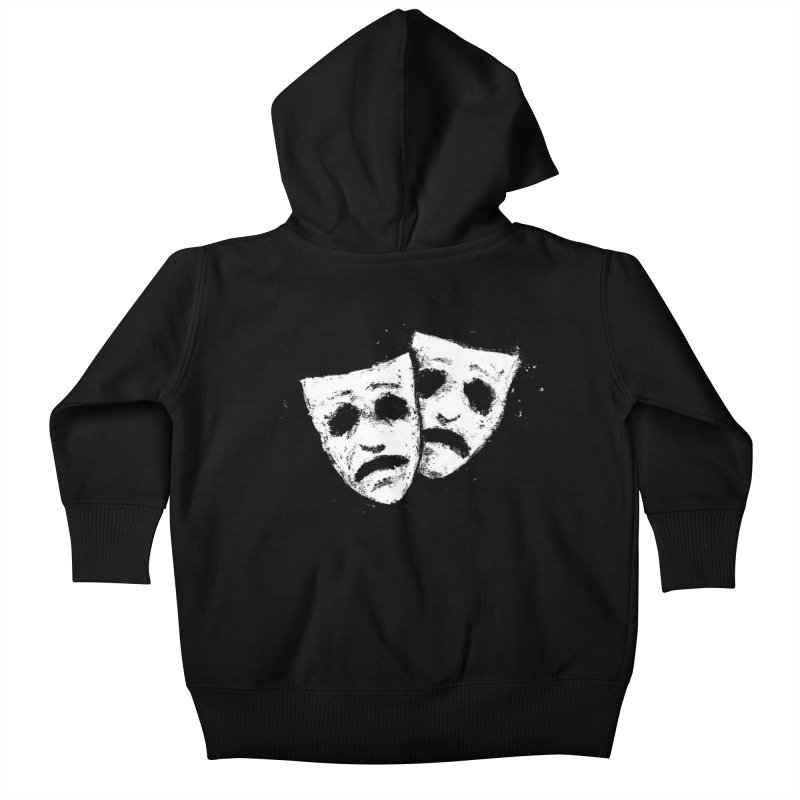 Nothing to Laugh About Kids Baby Zip-Up Hoody by Fox Shiver's Artist Shop