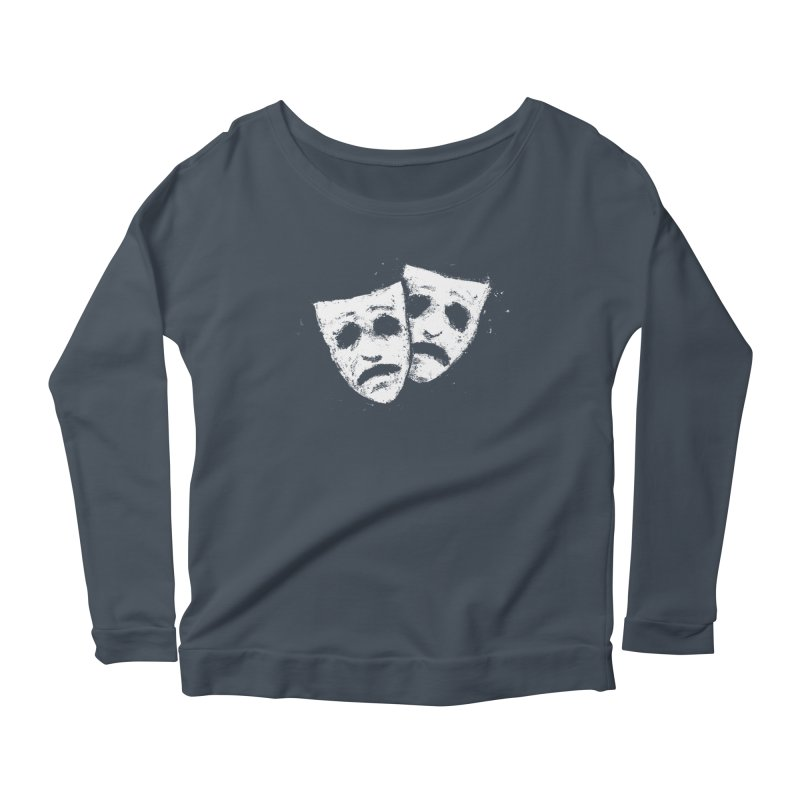 Nothing to Laugh About Women's Scoop Neck Longsleeve T-Shirt by Fox Shiver's Artist Shop