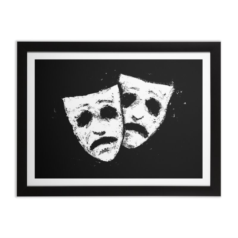 Nothing to Laugh About Home Framed Fine Art Print by Fox Shiver's Artist Shop