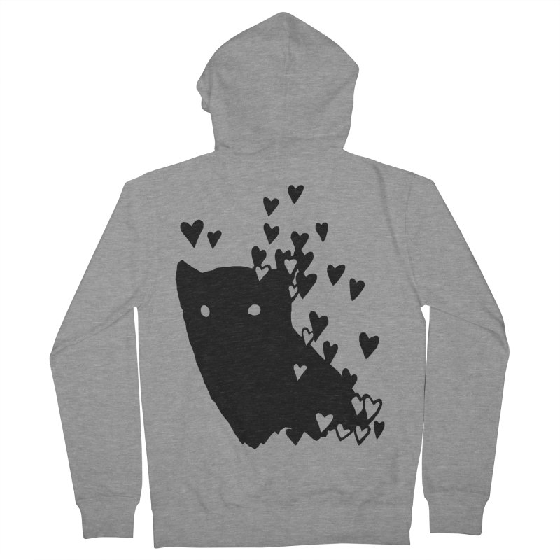 Lovely Women's French Terry Zip-Up Hoody by Fox Shiver's Artist Shop