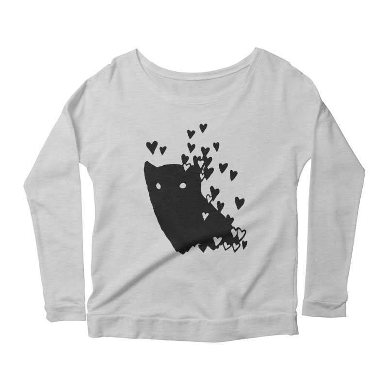 Lovely Women's Scoop Neck Longsleeve T-Shirt by Fox Shiver's Artist Shop