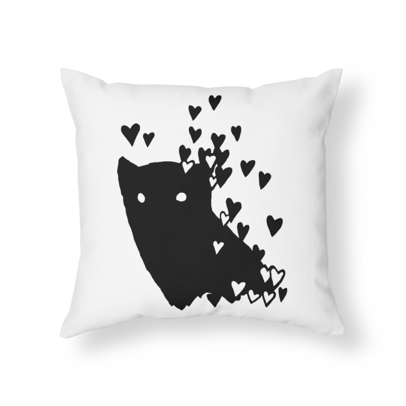 Lovely Home Throw Pillow by Fox Shiver's Artist Shop