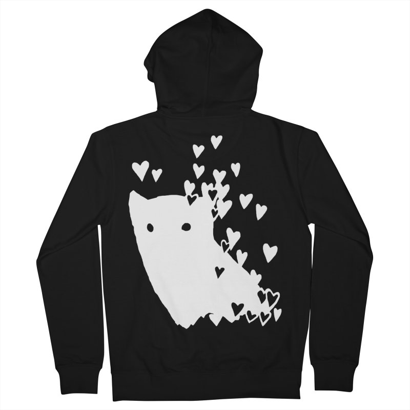Lovely (Black Variant) Women's French Terry Zip-Up Hoody by Fox Shiver's Artist Shop