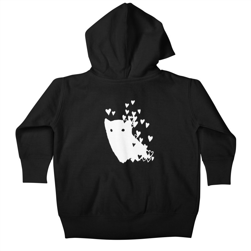 Lovely (Black Variant) Kids Baby Zip-Up Hoody by Fox Shiver's Artist Shop