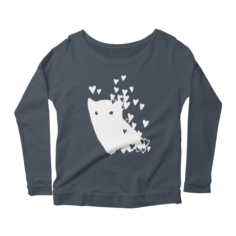 Lovely (Black Variant) Women's Scoop Neck Longsleeve T-Shirt by Fox Shiver's Artist Shop