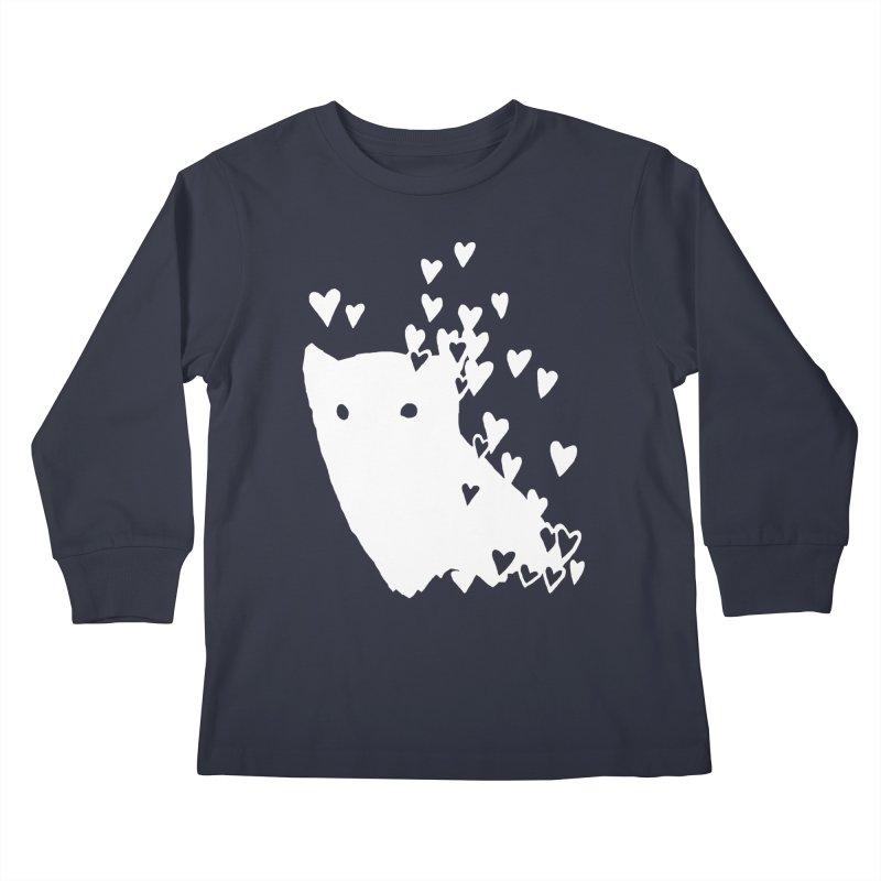 Lovely (Black Variant) Kids Longsleeve T-Shirt by Fox Shiver's Artist Shop