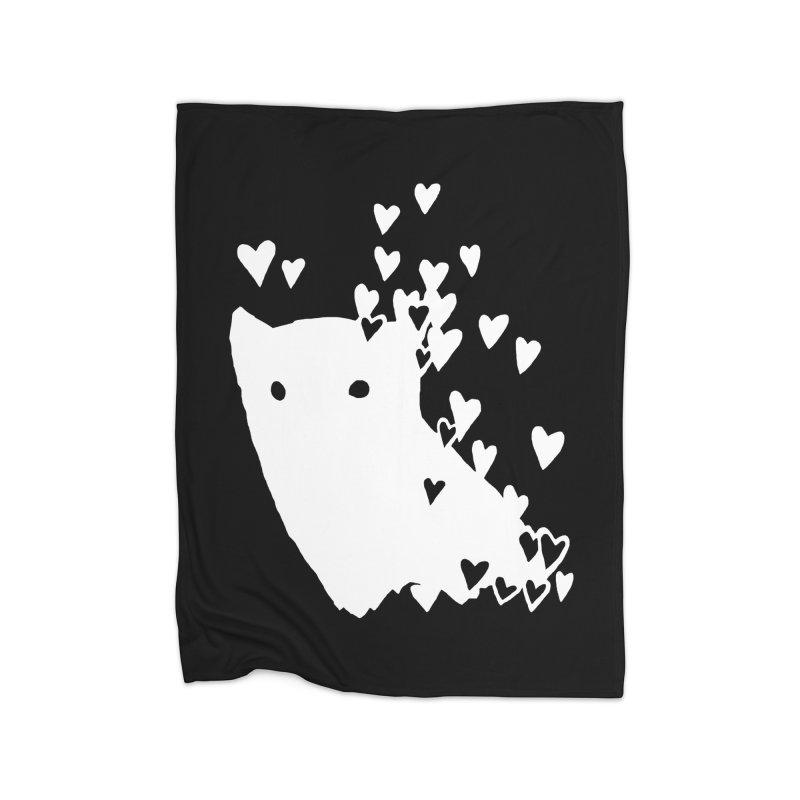 Lovely (Black Variant) Home Fleece Blanket Blanket by Fox Shiver's Artist Shop