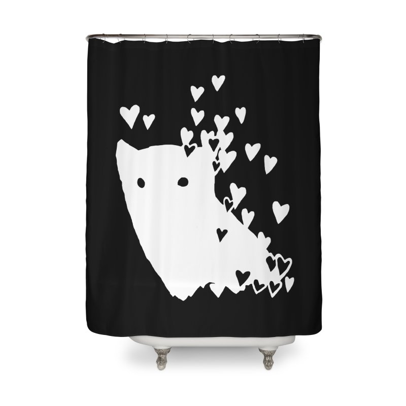 Lovely (Black Variant) Home Shower Curtain by Fox Shiver's Artist Shop
