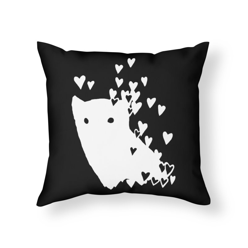 Lovely (Black Variant) Home Throw Pillow by Fox Shiver's Artist Shop