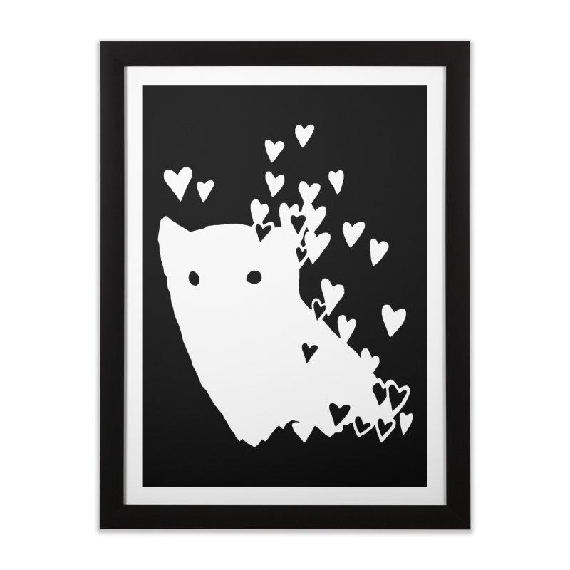 Lovely (Black Variant) Home Framed Fine Art Print by Fox Shiver's Artist Shop