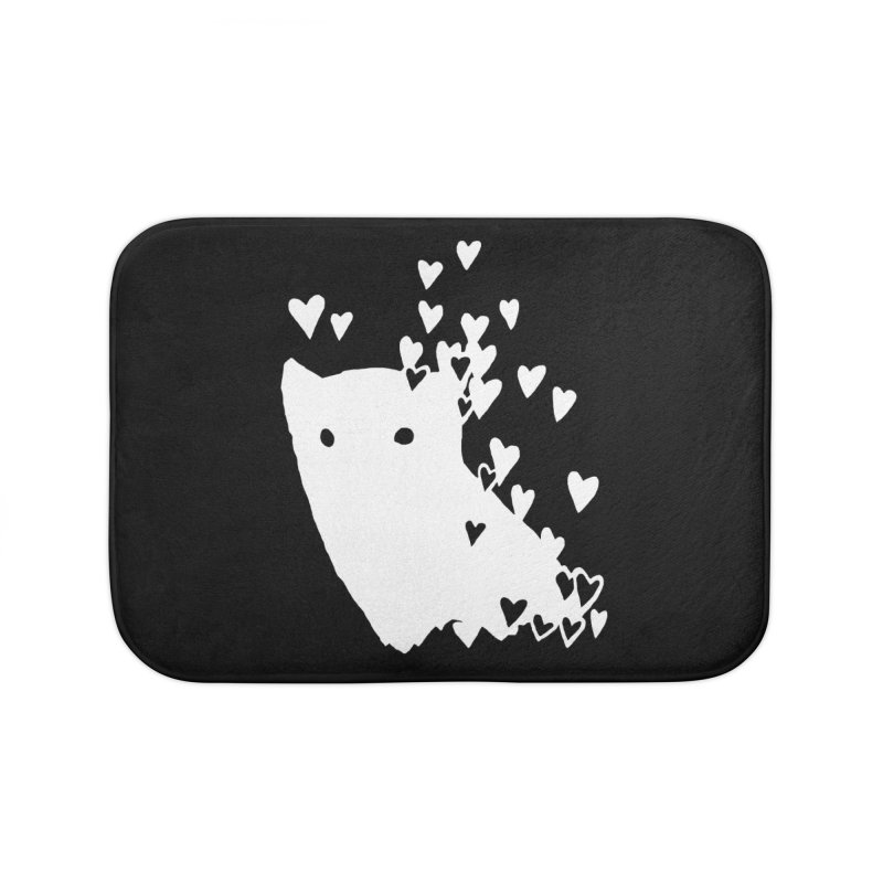Lovely (Black Variant) Home Bath Mat by Fox Shiver's Artist Shop