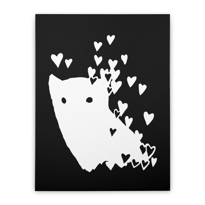 Lovely (Black Variant) Home Stretched Canvas by Fox Shiver's Artist Shop