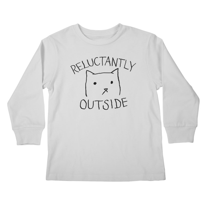 Reluctantly Outside Kids Longsleeve T-Shirt by Fox Shiver's Artist Shop