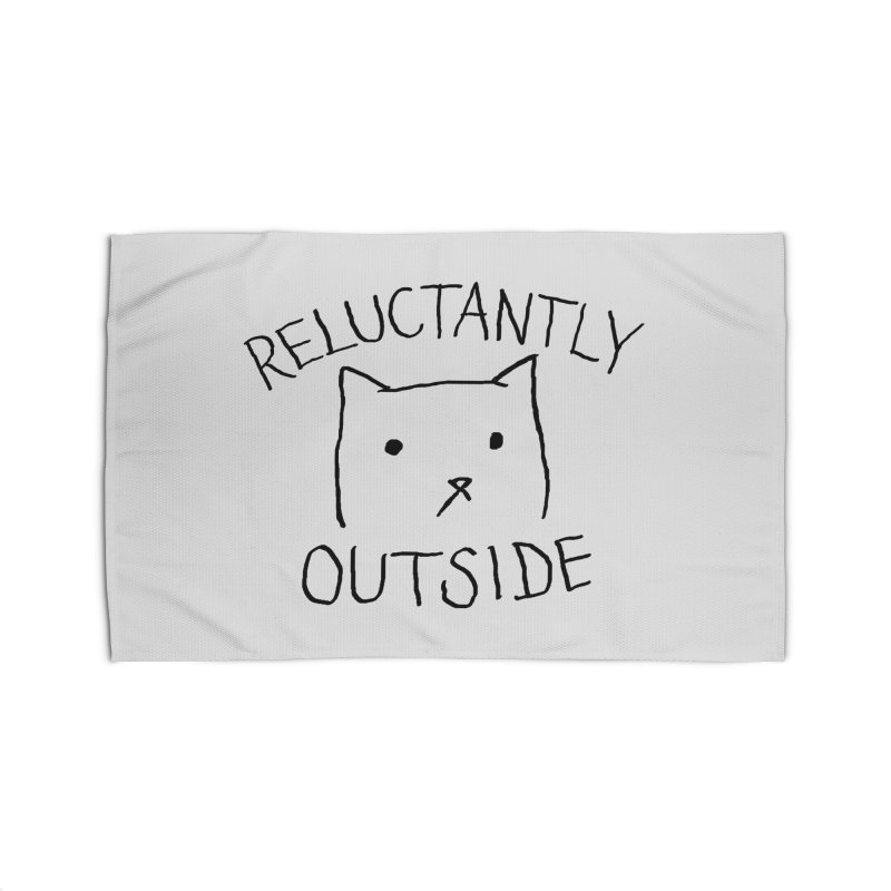Reluctantly Outside Home Rug by Fox Shiver's Artist Shop