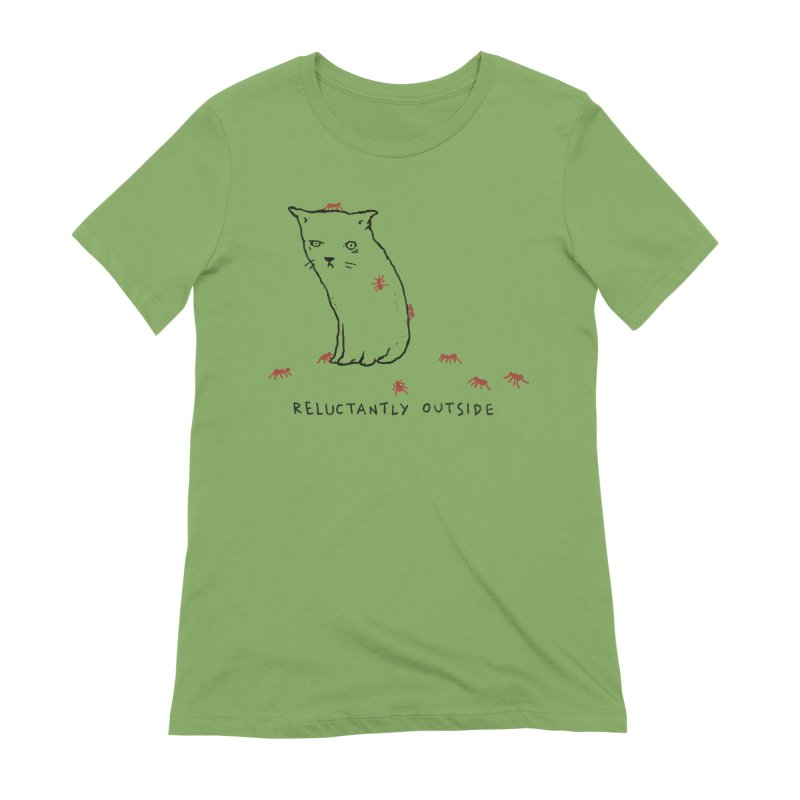 Reluctantly Outside Women's Extra Soft T-Shirt by Fox Shiver's Artist Shop