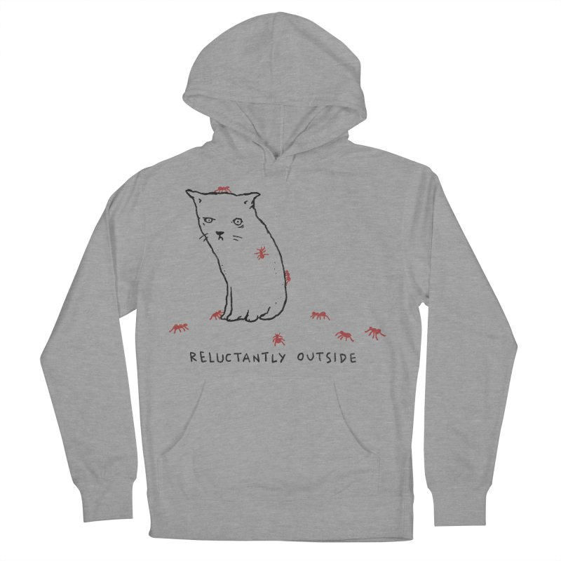 Reluctantly Outside Men's French Terry Pullover Hoody by Fox Shiver's Artist Shop