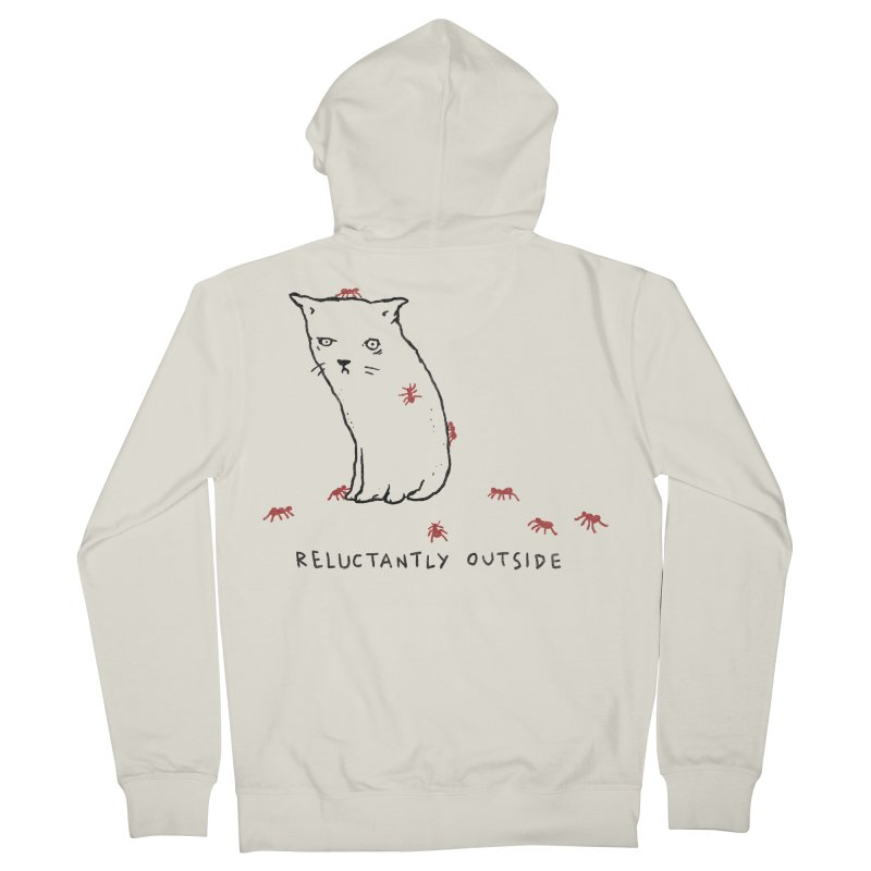 Reluctantly Outside Men's French Terry Zip-Up Hoody by Fox Shiver's Artist Shop