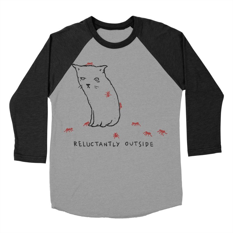 Reluctantly Outside Women's Baseball Triblend Longsleeve T-Shirt by Fox Shiver's Artist Shop