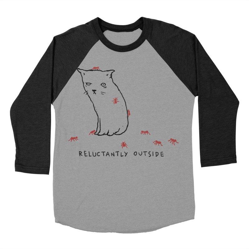 Reluctantly Outside Men's Baseball Triblend Longsleeve T-Shirt by Fox Shiver's Artist Shop