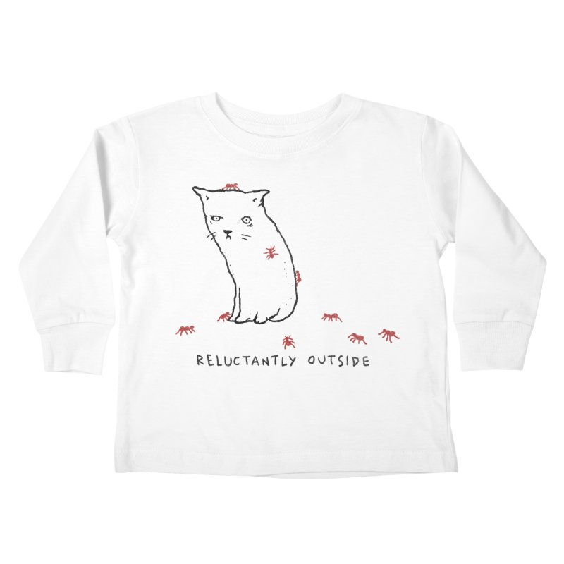 Reluctantly Outside Kids Toddler Longsleeve T-Shirt by Fox Shiver's Artist Shop