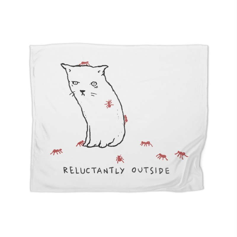 Reluctantly Outside Home Fleece Blanket Blanket by Fox Shiver's Artist Shop