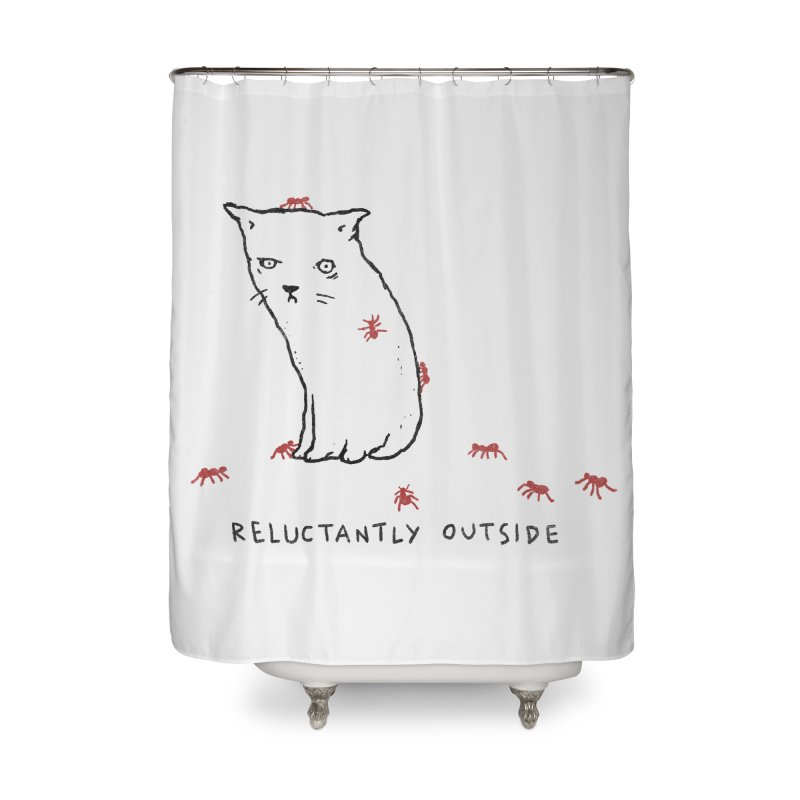 Reluctantly Outside Home Shower Curtain by Fox Shiver's Artist Shop
