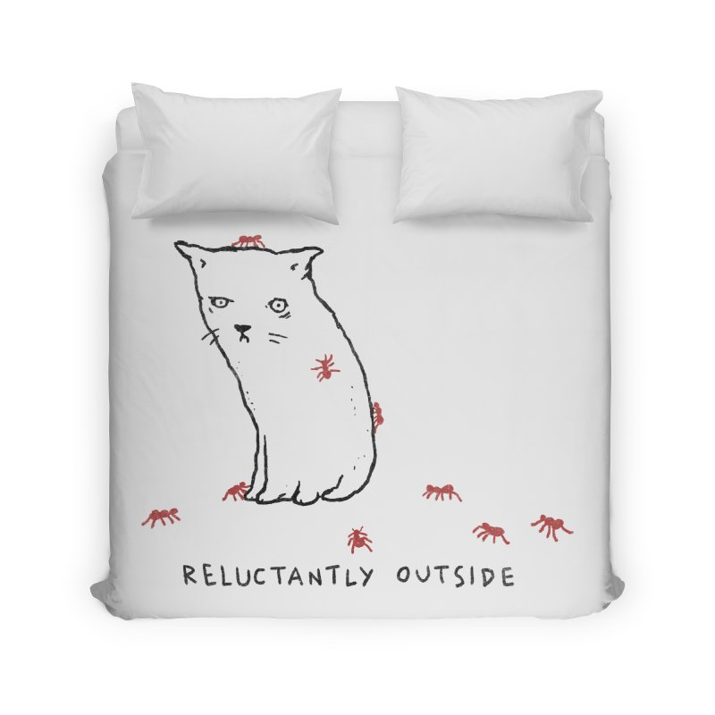 Reluctantly Outside Home Duvet by Fox Shiver's Artist Shop