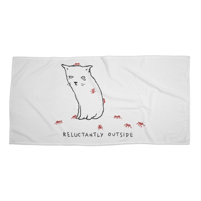 Reluctantly Outside Accessories Beach Towel by Fox Shiver's Artist Shop