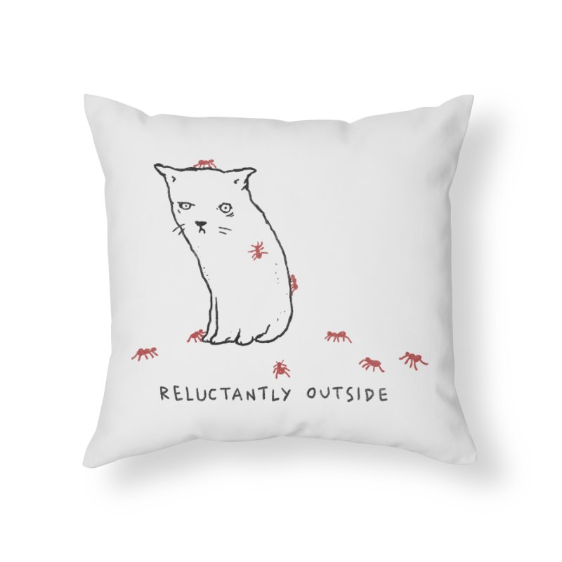 Reluctantly Outside Home Throw Pillow by Fox Shiver's Artist Shop