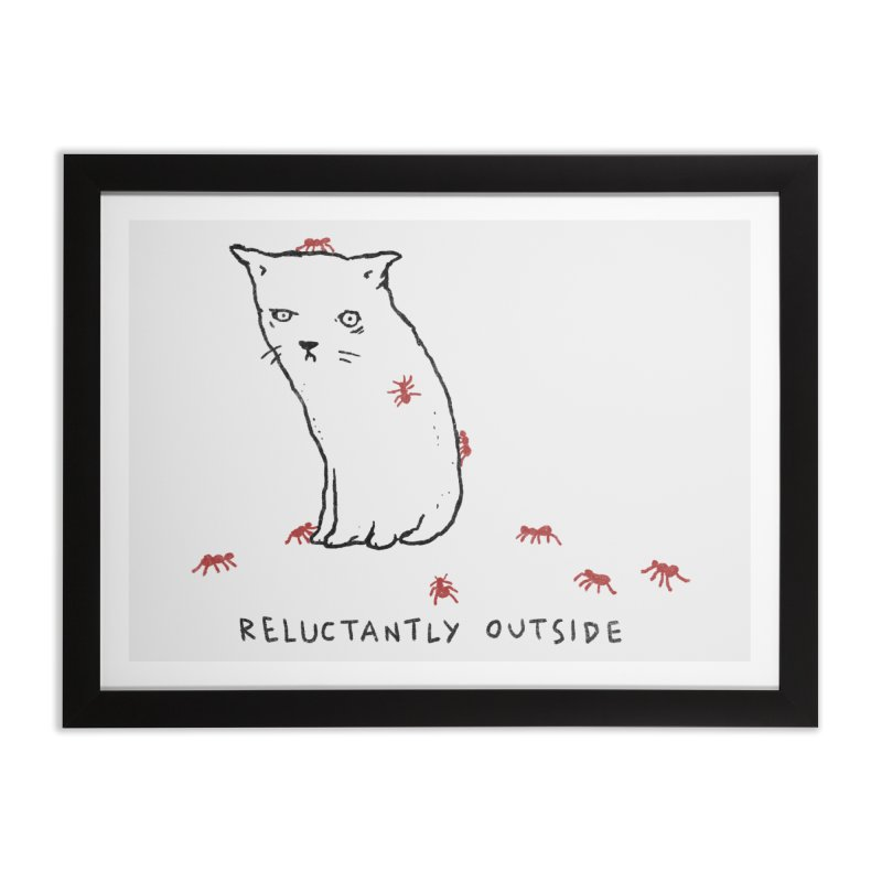 Reluctantly Outside Home Framed Fine Art Print by Fox Shiver's Artist Shop